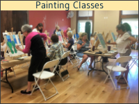 Painting Class at Hearthside Grove Luxury Motorcoach Resort