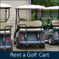 Rent a golf cart now from Hearthside Grove Luxury Motorcoach Resort