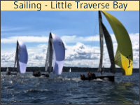 Sailing on Traverse Bay in Petoskey, Michigan