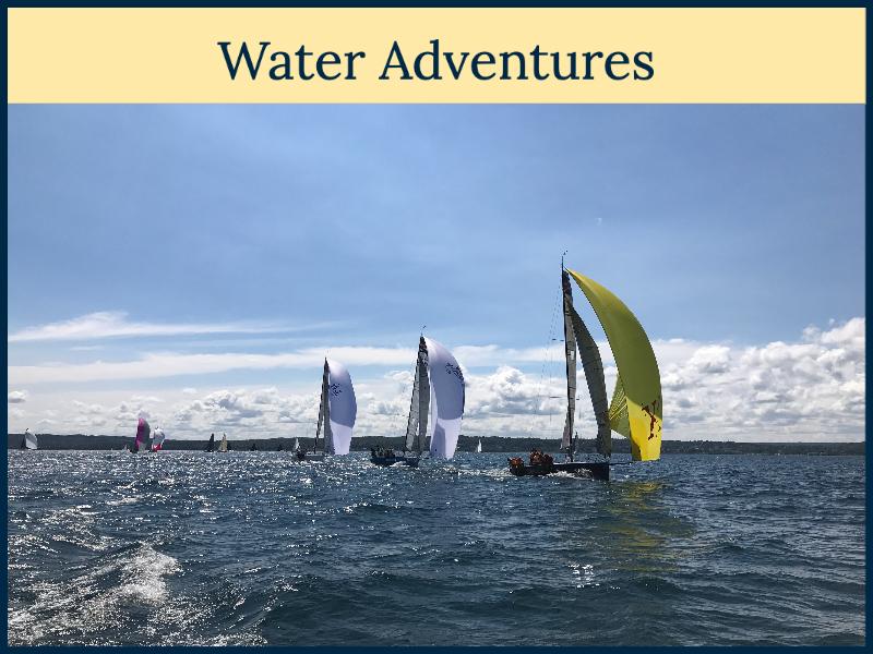 Sailing on Traverse Bay in Petoskey, Michigan